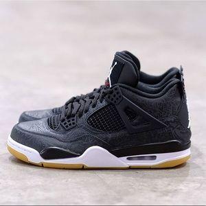 Jordan Retro 4 Laser Black Gum